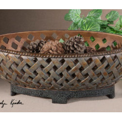 "19539 Teneh, Bowl by uttermost - Get 10% discount on your first order. Coupon code: ""houzz"". Order today."