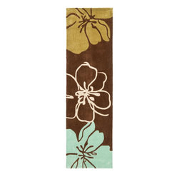 "Safavieh - Country & Floral Modern Art Hallway Runner 2'3""x8' Runner Brown - Multi Color Ar - The Modern Art area rug Collection offers an affordable assortment of Country & Floral stylings. Modern Art features a blend of natural Brown - Multi Color color. Hand Tufted of Polyester the Modern Art Collection is an intriguing compliment to any decor."