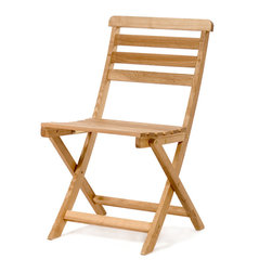 All Things Cedar - All Things Cedar OB18 Bistro Wooden Fold-up Chair - These chairs sport a fold-up design made using solid Oak wood. The chairs are finished with a light oil making them ideal for outdoor patio use.    Dimensions:   23 x 18 x 35 in. (w x d x h)