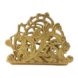 Brass Letter Holder - Keep your desk organized, but don't compromise your glamorous style! This lovely solid brass letter holder will keep the clutter to a minimum and at the same time add sculptural style to your office!