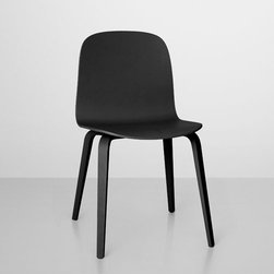 Muuto - Muuto | Visu Chair, Wood Base - Design by Mika Tolvanen, 2012.By MUUTO.   The Visu Chair, Wood Base features a wood veneer shell, which is form pressed then lacquered. Available in black or oak finishes.