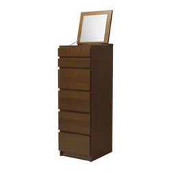 Eva Lilja Löwenhielm - MALM 6-drawer chest - 6-drawer chest, medium brown, mirror glass