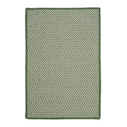 Indoor/Outdoor Houndstooth Tweed, Leaf Green Rug, 2