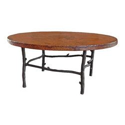 "South Fork 42"" Round Coffee Table by Mathews & Co. - Dimensions: (length x width x height)"