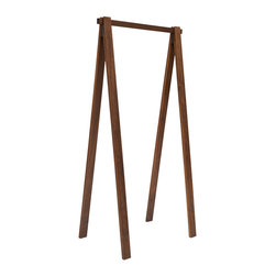 "Area Inc. - Bruno Walnut Clothes Rack, 30"" Long - Area Inc. - Hang your clothes from the simple 30-inch long Bruno Walnut Clothes Rack. Made from solid American walnut wood with an oil finish, this clothing rack keeps clothes organized and free of wrinkles. Set it inside a closet or bedroom alongside modern or craftsman decor for a clean, cohesive look."