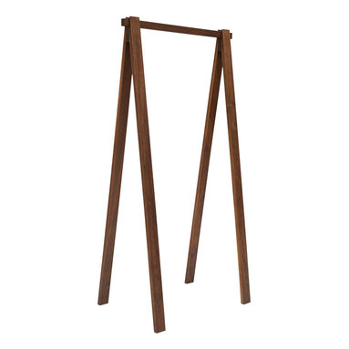 """Area Inc. - Bruno Walnut Clothes Rack, 30"""" Long - Area Inc. - Hang your clothes from the simple 30-inch long Bruno Walnut Clothes Rack. Made from solid American walnut wood with an oil finish, this clothing rack keeps clothes organized and free of wrinkles. Set it inside a closet or bedroom alongside modern or craftsman decor for a clean, cohesive look."""