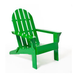 Green Adirondack Chair - Bring kelly green to your outdoor space. The chic color makes the Adirondack chair so glam.