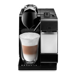 DeLonghi America Inc - DeLonghi EN520B Lattissima Capsule Espresso/Cappuccino Machine - Black Dark Brow - Shop for Coffee Cappucino and Espresso Machine Combos from Hayneedle.com! The simple illuminated controls of your DeLonghi EN520B Lattissima Capsule Espresso/Cappuccino Machine - Black will be a welcome sight when you're in need of caffeine. A patented extraction system yields superior beverages through careful attention to the flow of water through the ground coffee. Another feature pioneered by DeLonghi is the automatic cappuccino system which yields delicious authentic frothy-milk beverages every time. With a powerful thermoblock heating system the machine is ready to use in just 40 seconds and after use it automatically powers off for safety and energy efficiency. You get to choose whether the automatic shutoff happens after 9 minutes 30 minutes or 8 hours. You control the amount of frothed or steamed milk you produce and you can remove the entire frothing device and place it in the refrigerator. The 12 ounce milk carafe is also removable and can be stored in the fridge after use. You can have the machine remember the exact proportions of milk and coffee you prefer for customized drinks that are just right each time you make them. The water reservoir holds 30 ounces and detaches from the base for easy filling and cleaning. A sliding drip tray accommodates both coffee cups and glasses for latte macchiato. Cleanup involves the push of a button. Spent coffee capsules are automatically ejected into a collecting tank that can hold up to 10 of them. Cable storage under the machine keeps your counter space tidy.About De'Longhi USA Founded over a century ago when the De'Longhi family opened a workshop in Treviso Italy the De'Longhi brand set the standard for handcrafted quality and expert craftsmanship. Three generations later the people at De'Longhi believe design is timeless and strive to find beauty in everyday objects to bring style to your home. Expert manufact