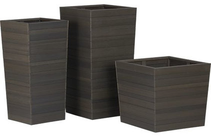 modern outdoor planters by Crate&Barrel