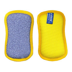 e-cloth - e-Cloth Washing Up Pad - Go green by adding this two-sided pad to your cleaning arsenal. Use the textured side as an alternative to disposable scouring pads and the other for quick wipe ups. Best of all, you don't need to add anything but water, making chemical-free cleaning a reality.
