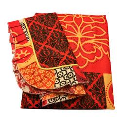 raziascloset - Exotic Mix - 100% Cotton Flat Bedsheet - Queen - 100% Cotton Flat Bedsheet set with 2 sided frills and 2 Pillow cases with 4 sided frills, Queen size