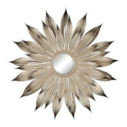 Paragon Decor - Silver Flower Petals - Layers of silver petals surround a 9h x 9w mirror.  The petals may be slightly manipulated for the perfect look!