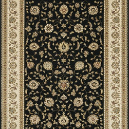 "Loloi Rugs - Loloi Rugs Welbourne Collection - Black / Ivory, 2'-3"" x 3'-9"" - The Welbourne Collection features a more traditional design with up-to-date colors and styles. Most notably, its densely woven construction contributes to the superior quality of this new power-loomed collection. There is a variety of sizes and color combinations available."