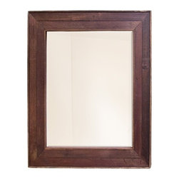Native Trails - Cabernet Mirror | Native Trails - Made in North America by Native Trails.The Cabernet Mirror is a beautiful and sustainable accent piece that will enrich any bathroom décor. The beveled glass mirror frame is handmade from repurposed oak wine barrel tops. The naturally wine-stained wood adds warmth to your space, while the classic design has timeless elegance. Product Features:
