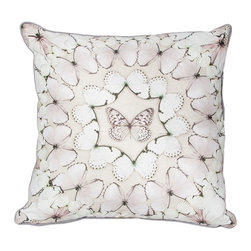 Butterfly Array Decorative Pillow - Bring the natural world into your home with this beautiful pillow from the Graham & Brown pillow collection. The soft colour palette brings out the stunning detailing of the butterflies making this pillow a kaleidoscope of colour and style. Made from 100% cotton at the beautiful size of 50x50cm and generously filled with polyester hollow fibre this quirky pillow is both plush and cosy. Featuring a complimenting coloured back and colour co-ordinating piping and zip, each pillow in our unique range is finished to perfection.