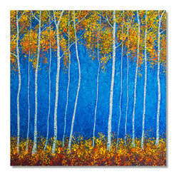 """JillianSuzanne.com - Aspen Fall - Oil on Canvas: 36"""" X 36""""  - There is one original available."""