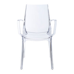 Eurostyle - Vanity Armchair (Set of 2) - Transparent - Recyclable polycarbonate
