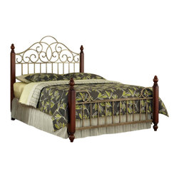 Home Styles - Home Styles Modern Craftsman Queen Bed and Two End Tables in Oak-King Size - Home Styles - Bedroom Sets - 50506202 - Reminiscent of the American Craftsman Era with understated style and simplicity, the Modern Craftsman Bed by Home Styles marries a traditional, distressed Oak finish on Ash solids and oak veneers with new age, deep brown powder-coated steel metal accents. The Modern Craftsman Bed encapsulates Craftsman Style with rectilinear and angular stylized motifs reminiscent of mid-century design. The Modern Craftsman End Table marries a traditional, distressed Oak finish on poplar solids and oak veneers with new age, brown metal accents. Features include one storage drawer and an open storage shelf. Size: 22w 22d 24h. Assembly required. Set includes Bed and Two End Tables.