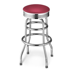 Diner Stool, Dark Red
