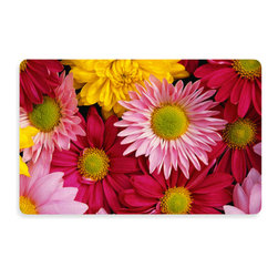 Bungalow Flooring New Wave Big Bloom Doormat - Add brightness to your kitchen floor with this non-slip cushioned daisy mat.