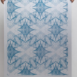 """Space and time Wallpaper - Rolls: 27"""" x 15' untrimmed"""