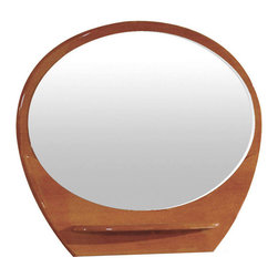 "Global Furniture - Emily/Evelyn Mirror in Cherry Finish - Emily/Evelyn Mirror in Cherry Finish;Features: Cherry Finish;Material: MDF, Paper Veneer;Weight: 58 lbs.;Dimensions: L47"" / D6"" / H39"""