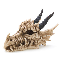 KOOLEKOO - Dragon Skull Treasure Box - What safer place is there for your secret stash than in the mouth of a snarling dragon? Cool and creepy skull treasure box is a sure deterrent for any would-be treasure raiders.
