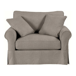 Ballard Designs - Suzanne Kasler Signature 13oz Linen Baldwin Club Chair Slipcover - Coordinates with Suzanne's linen panels, tablecloths & pillows. Removes easily for cleaning or a fresh change of seasonal color. Dry clean. Imported. Suzanne's best-selling line of luxurious linens now include slipcovers designed exclusively to fit our ultra-comfy Baldwin Club Chair. Hand finished with strong, over-locking seams and custom fitted to prevent shifting and bunching. A Baldwin Slipcover is necessary when ordering any Baldwin frame.Suzanne Kasler Baldwin Club Chair Slipcover features: . . . .