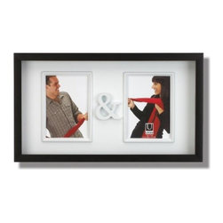 Umbra - Umbra You and Me Picture Frame - Celebrate togetherness with the You & Me picture frame from Umbra. This Black frame with white background features two openings with molded borders and a molded ampersand between them. Makes a perfect wedding or anniversary gift and is also great for showing off kids and pets.