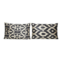 Exotic Silk Turkish Pillow - Turkish cushion collection designed with exotic and beautiful fabrics, combining the electric and sumptuous, mixing motifs, shapes and colors from many different cultures