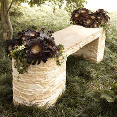 Traditional Outdoor Stools And Benches by Horchow