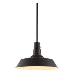 Zuo Modern - Zuo Modern Tin Era Ceiling Light X-54289 - A reproduction of an enamel pendant that's been a fixture - literally - in barns across the country for the last century, this design classic deserves to be brought indoors. The Tin ceiling lamp comes with one 100w bulb and is UL approved.