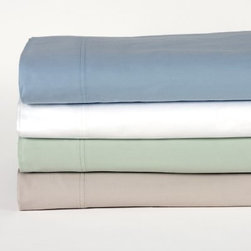 350 Thread Count Outlast Sheet Set - Sleep in cozy comfort - without overheating - with the 350 Thread Count Outlast Sheet Set. This soft, luxurious sheet set is made from cotton and outlast material, which helps balance the temperature under the covers. Available in your choice of color and size, this set includes a fitted and flat sheet and two pillowcases.