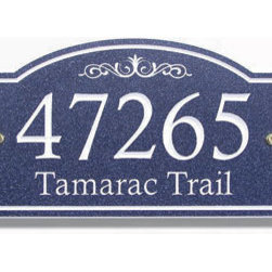 Avonite Small-Arched Address Plaque - Your home can be a part of history with this vintage-styled Avonite plaque. The arch and trim give it a distinctly old-fashioned look.