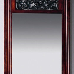 """Xylem - Iris 24"""" Vanity Mirror in Cinnibrown - Features: -Vanity mirror. -Cinnibrown finish. -Signature design with cast iron floral inserts. -Complements 24"""" wash stand. -Overall dimensions: 31.5"""" H X 25"""" W."""