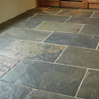 Gray green slate - Gray green slate is is a very tough, very hard stone used for floors.