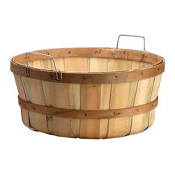 Natural Shallow Bushel Basket - I imagine filling this bushel basket with freshly picked apples, or I might drop a big, beautiful mum in it.