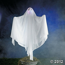 Ghost Yard Stake With LED Light - This eerie spirit is perfect for greeting trick-or-treaters.