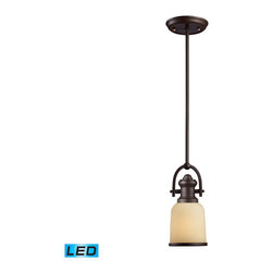 Elk Lighting - Landmark Lighting Brooksdale 66171-1-LED 1-Light Pendant in OiLED Bronze - LED O - 66171-1-LED 1-Light Pendant in OiLED Bronze - LED Offering Up To 800 Lumens belongs to Brooksdale Collection by Landmark Lighting Blending Vintage Design Elements With Today'S Casual Living, The Brooksdale Collection'S Functional Beauty Allows For Use In A Variity Of Decors. - LED Offering Up To 800 Lumens (60 Watt Equivalent) With Full Range Dimming. Includes An Easily Replaceable LED Bulb (120V). Pendant (1)