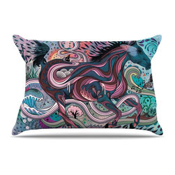 """Kess InHouse - Mat Miller """"Poetry in Motion"""" Pillow Case, King (36"""" x 20"""") - This pillowcase, is just as bunny soft as the Kess InHouse duvet. It's made of microfiber velvety fleece. This machine washable fleece pillow case is the perfect accent to any duvet. Be your Bed's Curator."""