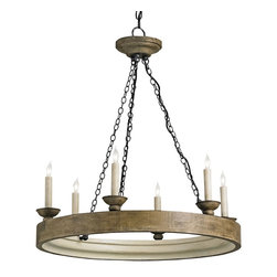 Currey and Company - Beachhouse Chandelier - Crafted of reclaimed wood and elegantly finished, this chandelier brings distinctive old-world allure to your ambience. Striking above the dining table, it'd also look inviting in your foyer.