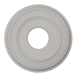 """Ekena Millwork - 12 3/8""""OD x 4""""ID x 1 1/8""""P Classic Ceiling Medallion (Fits Canopies up to 5"""") - 12 3/8""""OD x 4""""ID x 1 1/8""""P Classic Ceiling Medallion (Fits Canopies up to 5""""). Our ceiling medallion collections are modeled after original historical patterns and designs. Our artisans then hand carve an original piece. Being hand carved each piece is richly detailed with deep relief, sharp lines, and a truly unique touch. That master piece is then used to create a mould master. Once the mould master is created we use our high density urethane foam to form each medallion. The finished look is a beautifully detailed, light weight, solid construction, focal piece. The resemblance to original plaster medallions is achieved only by using our high density urethane and not vacuum formed, """"plastic"""" type medallions. - Medallions can be cut using standard woodworking tools to add a hole for electrical or a ceiling fan canopy. - Medallions are light weight for easy installation. - They are fully primed and ready for your paint. If you have any questions feel free to ask. These are in stock and available for immediate shipment."""