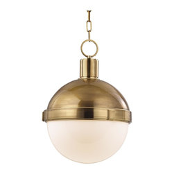 Hudson Valley Lighting - Hudson Valley Lighting 615-AGB Lambert Pendant, Aged Brass - This 0 light Pendant from the Lambert collection by Hudson Valley Lighting will enhance your home with a perfect mix of form and function. The features include a Aged Brass finish applied by experts. This item qualifies for free shipping!