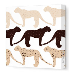Avalisa - Animal - Cheetah Stretched Wall Art, 12cm x 12, Brown Hue - Who said cheetahs never win? This winning wall hanging comes in your choice of color combinations and sizes so you can hang it easily with pride. Snap this one up. Cheetahs move pretty fast.