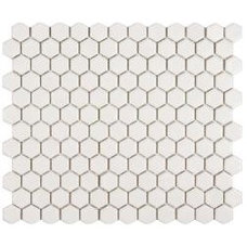 Somertile Victorian Hex Matte White Porcelain Mosaic Tiles (Pack of 10) | Overst