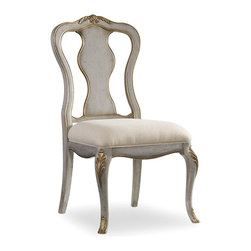 Hooker Furniture - Desk Chair - 5198 - White glove, in-home delivery!  For this item, additional shipping fee will apply.  This elegant chair is crafted using hardwood solids and fabric.