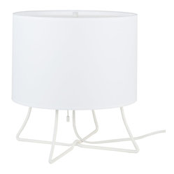 Virgil Low Lamp, White Linen