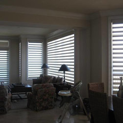 Pirouette Shades - A beautiful look with this design to allow privacy and full view.