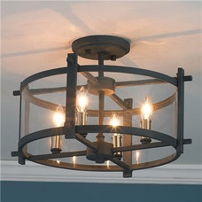 traditional ceiling lighting Clearly Modern Semi-Flush Ceiling Light - Shades of Light