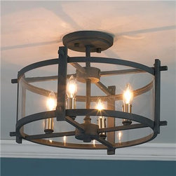 Clearly Modern Semi-Flush Ceiling Light - Shades of Light -